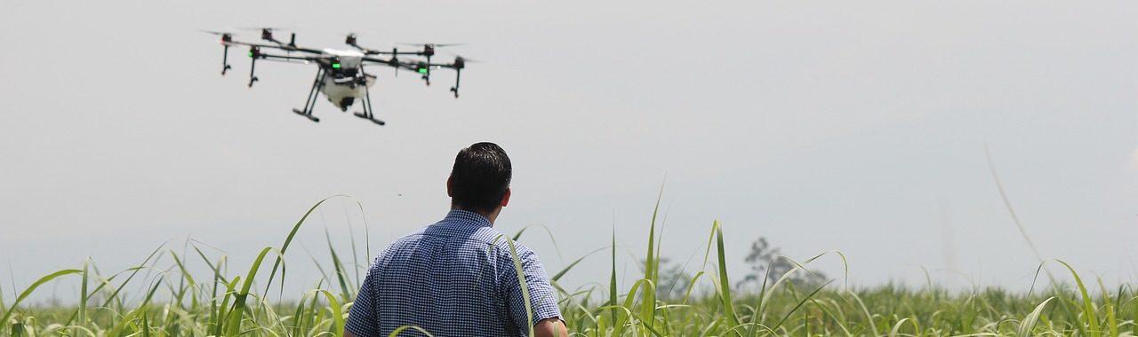 Uso de sensores en drones para el control de riego.
