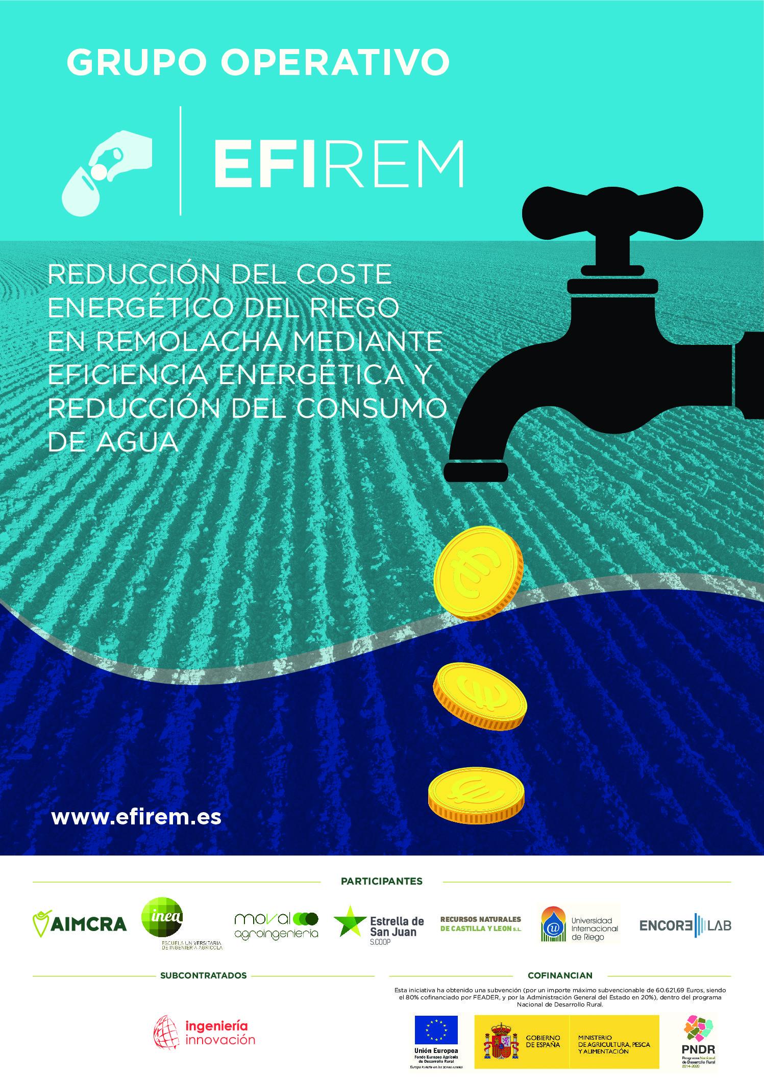 """La Universidad Internacional de Riego participa en el Grupo Operativo """"Reducción del coste de riego mediante eficiencia energética y reducción del consumo de agua garantizando la competitividad de la remolacha azucarera en España"""""""